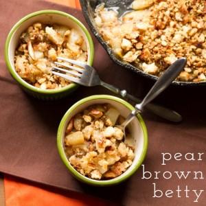 pear brown betty // chattavore