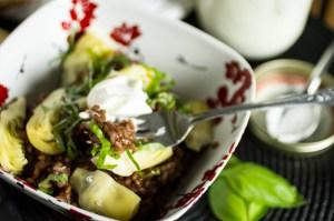 red wine risotto with artichokes -- chattavore