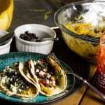 Spaghetti Squash Tacos with Black Beans