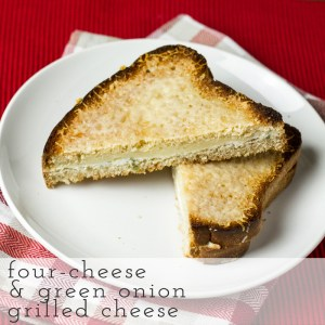 four cheese and green onion grilled cheese // chattavore