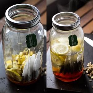 honey-ginger-lemon tea | chattavore