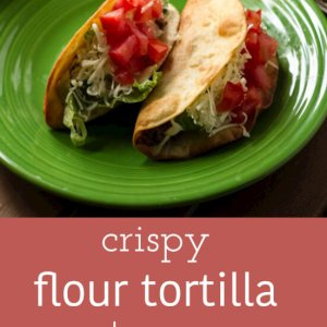 Crispy flour tortilla tacos take me back to my childhood, when I ALWAYS ordered Taco Light on family trips to Taco Bell. Winning! | recipe from Chattavore.com