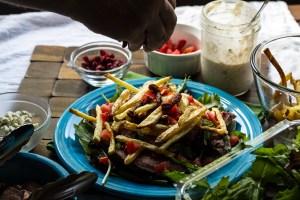steak & fries salad   chattavore