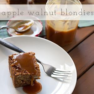 apple-walnut blondies   chattavore