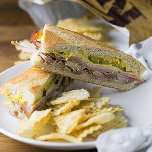 Homemade Cuban sandwiches are a perfect way to use up any leftover pork roast you might have in your fridge. They're a classic!   Recipe from Chattavore.com