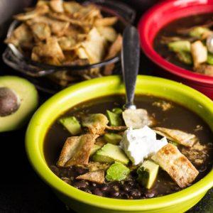 black bean tortilla soup from Chattavore