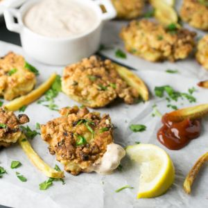 Shrimp and corn fritters are like a delicious hush puppy stuffed with shrimp and corn. They're a great snack and a perfect dinner!   Recipe from Chattavore.com