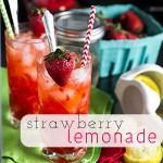 Easy Strawberry Lemonade for One