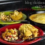 BBQ Chicken Skillet Cornbread Bake
