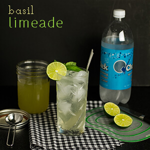 This basil limeade is a simple and delicious alternative to store-bought soda!   chattavore.com
