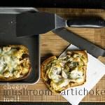Cheesy Mushroom Artichoke Melt
