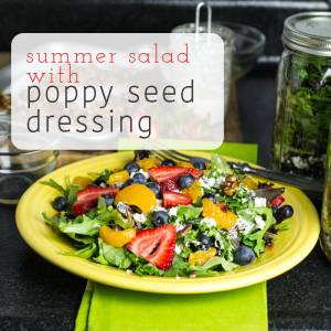 This summer salad with poppy seed dressing and fruit is perfect for a light meal when you don't feel like cooking! | chattavore.com
