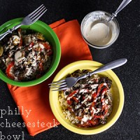 This Philly cheesesteak bowl is everything you love about a Philly cheesesteak sandwich...piled on top of a bowl of rice! | chattavore.com