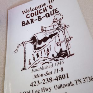 Couch's Bar-B-Que has been serving up smoked meats to Ooltewah, Tennessee since 1946 and recently made Southern Living's list of the top 50 BBQ spots in the South! | chattavore.com