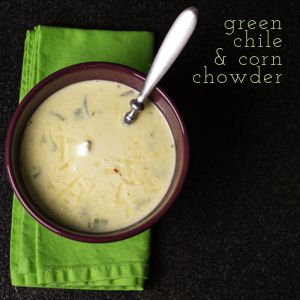 Green chile & corn chowder is a great way to welcome Fall OR use up the last of the seasonal summer vegetables from your produce market!   chattavore.com