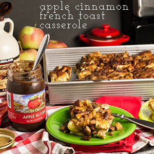 """Apple cinnamon French toast casserole is an easy-to-prepare make ahead breakfast with lots of familiar """"Fall"""" flavors!   chattavore.com"""