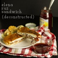With turkey, cream cheese, and strawberry jam, the Elena Ruz sandwich is sweet and savory heaven on a bun. It's a perfect way to use Thanksgiving leftovers, but it's also perfect for, you know, Tuesday.
