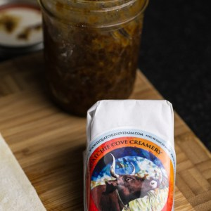 Blue cheese and bacon jam swirls are a perfect appetizer or snack for a party...or just for a Tuesday! Sponsored by Sequatchie Cove Creamery | Recipe from Chattavore.com