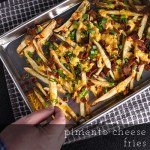 Pimento Cheese Fries with Bacon & Green Onions