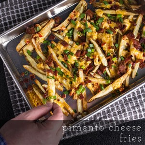Pimento cheese fries are my answer to Southern tailgating snack cravings! | recipe from Chattavore.com