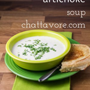 Creamy artichoke soup packs lots of artichoke hearts into a creamy base with Gruyere cheese. How could you possibly go wrong with this combination? | recipe from Chattavore.com