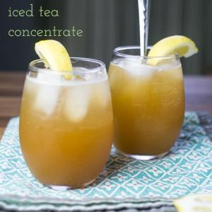 This recipe for iced tea concentrate allows the drinker to be in full control of every aspect of their iced tea experience! | recipe from Chattavore.com
