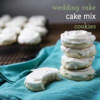 Wedding Cake White Cake Mix Cookies