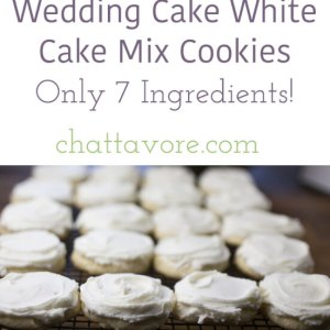 These wedding cake white cake mix cookies are sweet, buttery, and almond-flavored. They taste just like the cakes at Federal Bake Shop, my favorite bakery!   recipe from Chattavore.com