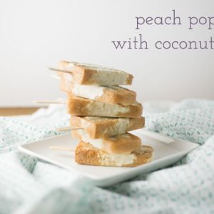 Peach popsicles with coconut milk contain only three ingredients and can be thrown together in less than fifteen minutes. They're healthy and refreshing! | recipe from Chattavore.com