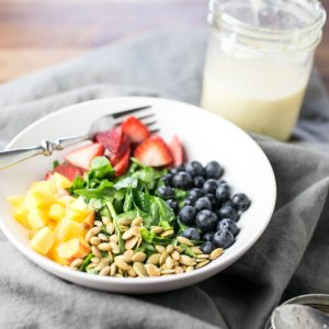 This honey lime dressing is sweet and creamy with a spicy hit of ginger (completely optional!). It's perfect for your summer (or winter) salads!   recipe from Chattavore.com