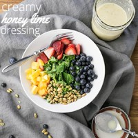 Creamy Honey Lime Dressing with Ginger