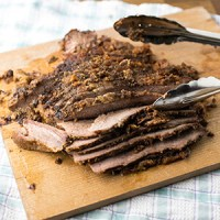 This slow cooker maple-chipotle brisket comes together so easily and is absolutely delicious. It makes great leftovers, too! | recipe from Chattavore.com