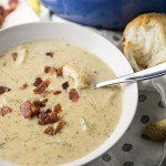 Ranch Cheddar Potato Soup with Bacon