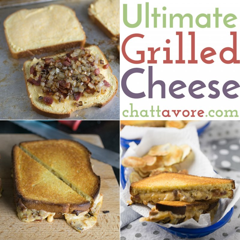 With bacon, ham, griddled onions, and three kinds of cheese, this is definitely the ultimate grilled cheese sandwich in my book! | Recipe from Chattavore.com