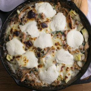 If you hate washing more than one pan when you cook dinner, this white skillet chicken lasagna is a delicious one-pan solution to your problem!   recipe from Chattavore.com