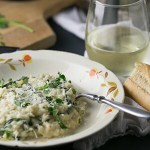 Creamy Lemon Spinach Risotto