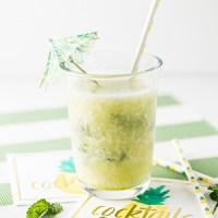 Frozen Pineapple Mojito (Non-Alcoholic Version Included)