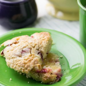 These easy scones with Greek yogurt are full of good stuff - yogurt, whole wheat, and fruit - and they're so delicious you won't be able to resist! | Recipe from Chattavore.com
