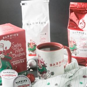 Santa's White Christmas Wacky Cake is super-easy-mixed in one pan-and so delicious with coconut, caramel, and vanilla flavors! #SantasWhiteChristmas #IC #ad #ShowUsYourSanta #cake #holidaybaking | Recipe from Chattavore.com
