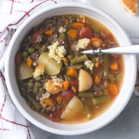 Instant Pot Vegetable Beef Soup (Freezer Meal Version)