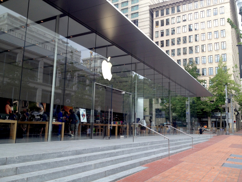 the new downtown apple store