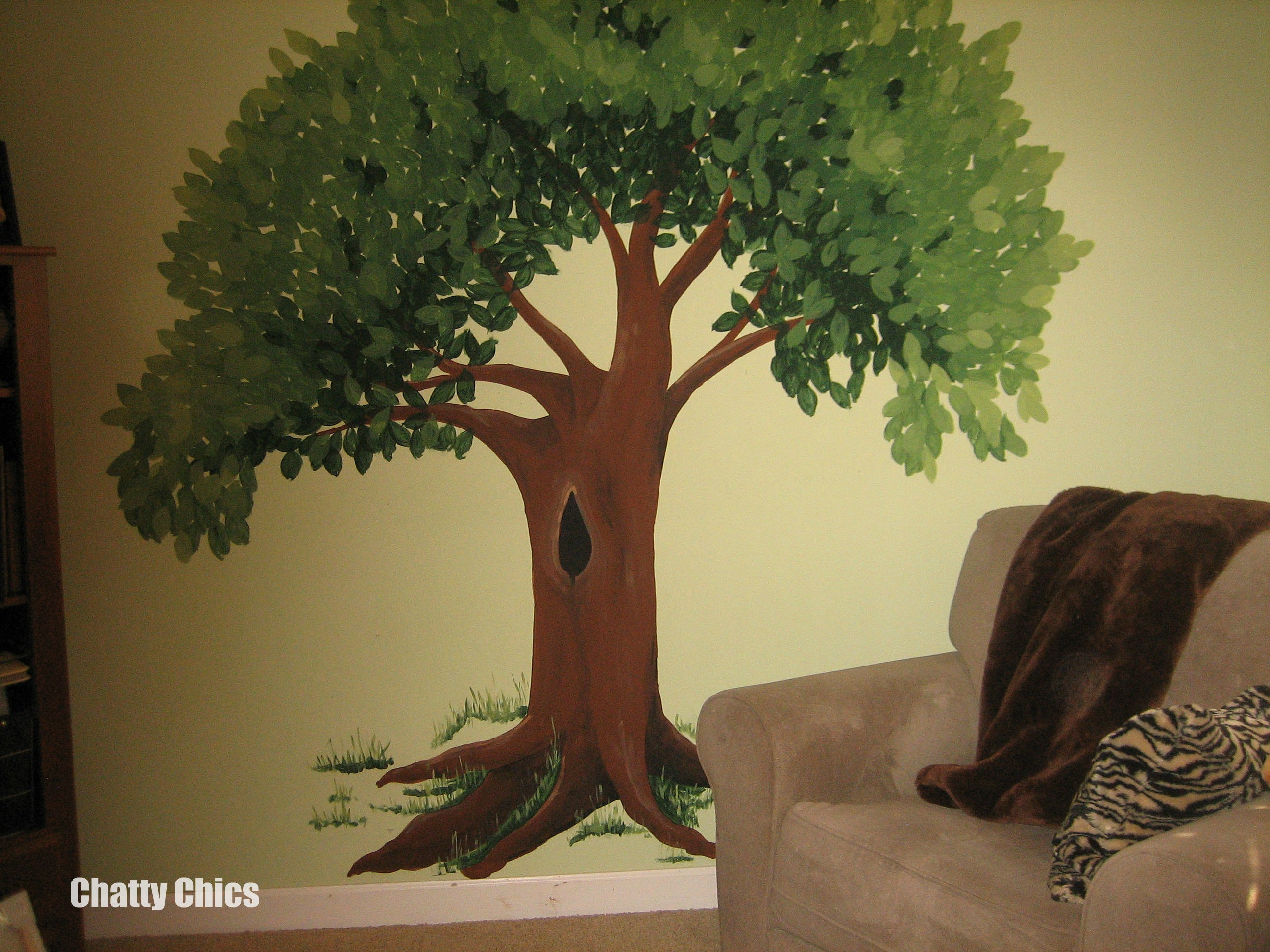 how to paint a tree on a wall one thing i always dreamed about was