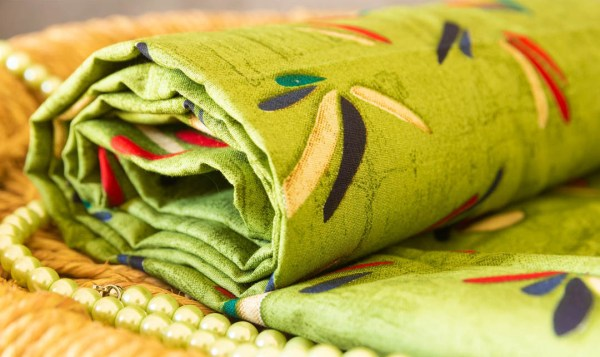 Fabric Abstract Print Green 3 https://chaturango.com/soft-cotton-fabric-online-abstract-design-green/