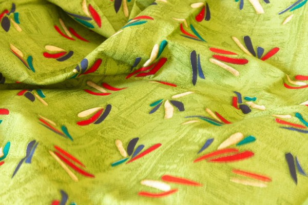 Fabric Abstract Print Green 4 https://chaturango.com/soft-cotton-fabric-online-abstract-design-green/