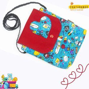 Chaturango - Buy Blue Sling Bag for Girls Online at best price