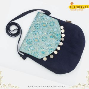 Chaturango - Buy Blue Sling bag for Women Online at best price