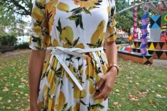 Lemon dress belt