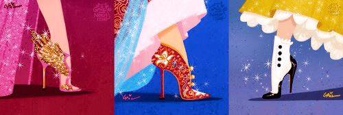 chaussures de princesses Disney
