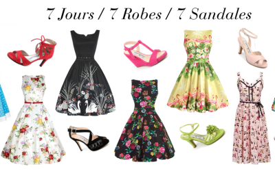 7 jours / 7 robes / 7 sandales