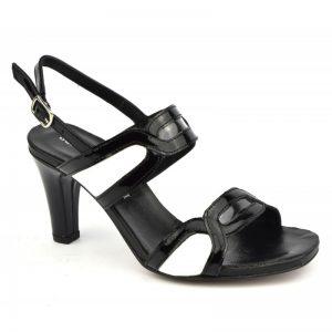 Sandales Plumers style chanel petites pointures noir et blanc